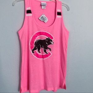 NWT Chicago Cubs neon pink tank top small
